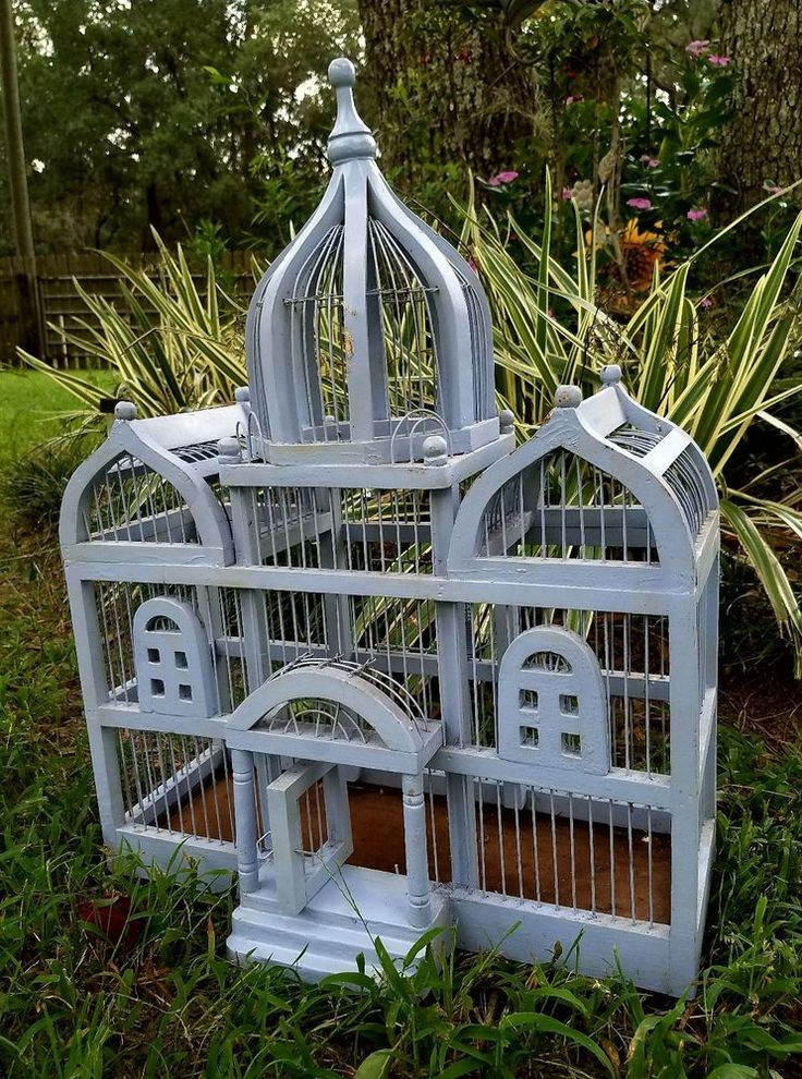 Bird Cage Architechtural Wooden wood Cathedral Victorian triple Dome vintage | Pet Supplies, Bird Supplies, Cages | eBay!