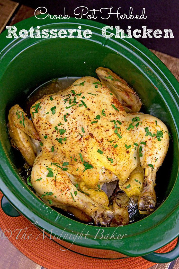Forget the store--make rotisserie chicken at home in your slow cooker | bakeatmidnite.com | #chicken #slowcooker #crockpot: