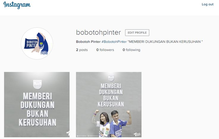 Media Social // Instagram Bobotoh Pinter