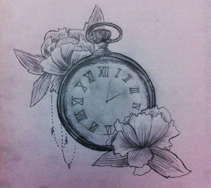 #reloj #dibujo #draw #sketch #flores