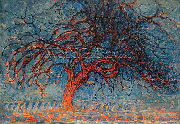 The Red Tree, 1908 print by Piet Mondrian - WorldGallery.co.uk