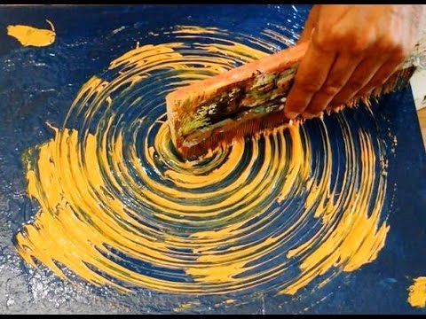 Abstract Art Painting Acrylic Circle Technique Black and White – YouTube