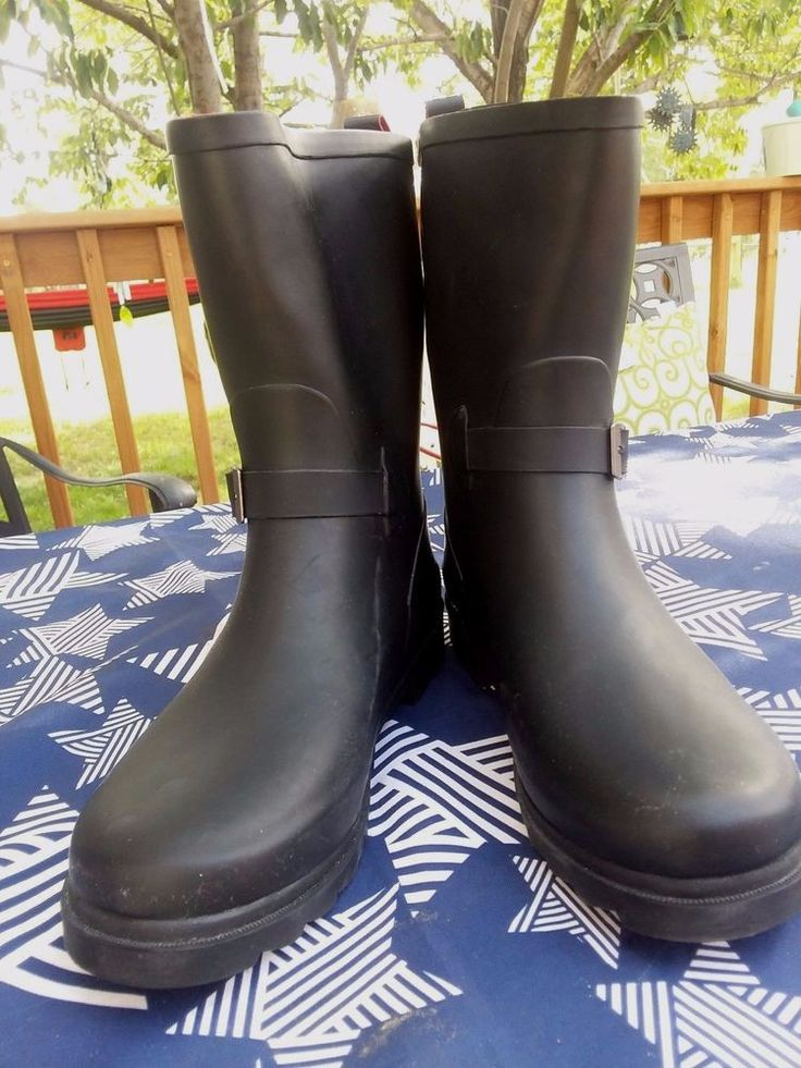 Dirty Laundry Women's Black Rainboots Size 9M | Clothing, Shoes & Accessories, Women's Shoes, Boots | eBay!