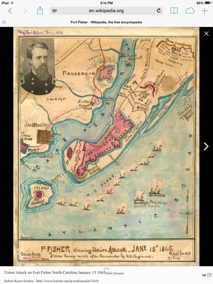 Old map of nc coast