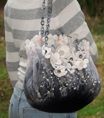 Handtassen handgemaakt.  Fair Masters - handgemaakte zilveren wind.  Handgemaakte.