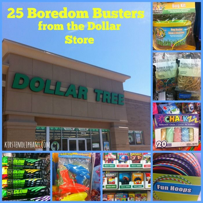 Keep your kids busy this summer with these 25 boredom busters from the dollar store!