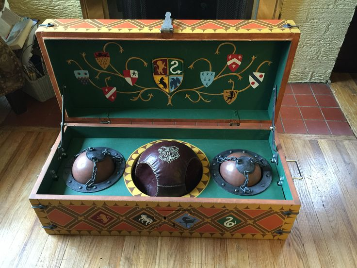 This one-of-a-kind Harry Potter replica Quidditch Trunk.