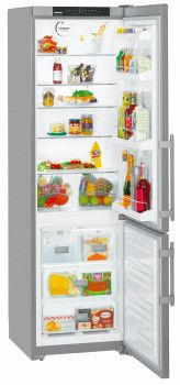 Liebherr CS1350BB 24 Inch Bottom-Freezer Refrigerator with 13.0 cu. ft. Capacity, 4 Glass Shelves, 4 Door Bins, Ice Maker, Energy Star Rating and FrostSafe System