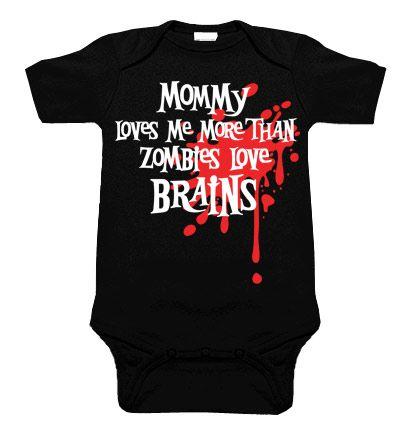 Mommy Loves Me Zombie Blood Splat One Piece