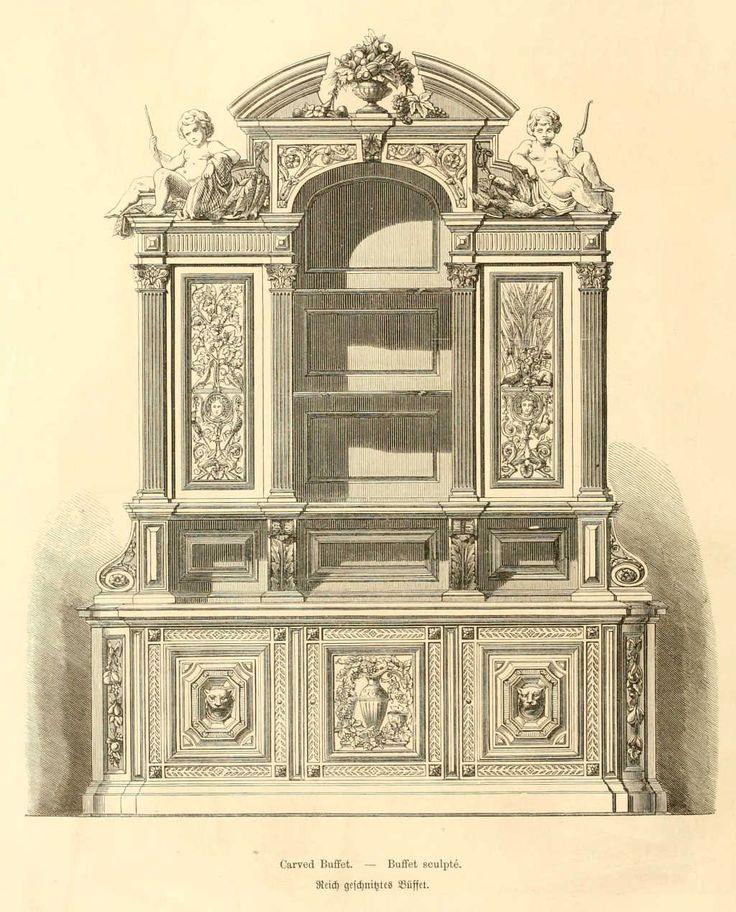 img/dessins meubles mobilier/buffet sculpte.jpg