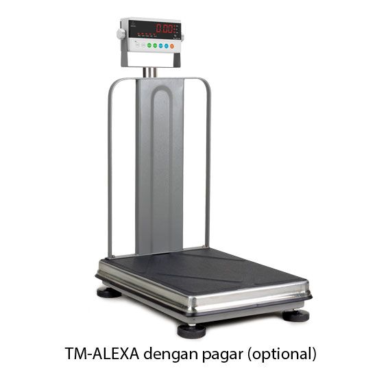 Timbangan Duduk Elektronik TM-ALEXA dengan pagar tambahan. Digital Bench Scale TM-ALEXA with optional fence by CAHAYA ADIL