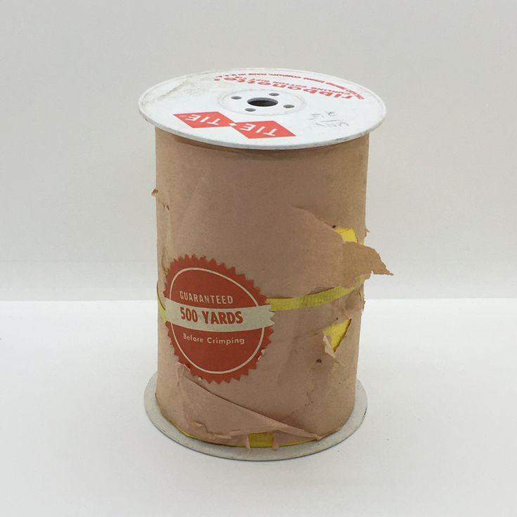 Vintage Full Spool of Yellow Tie-Tie Ribonette Curling Cotton Gift Tie Ribbon 500 Yards
