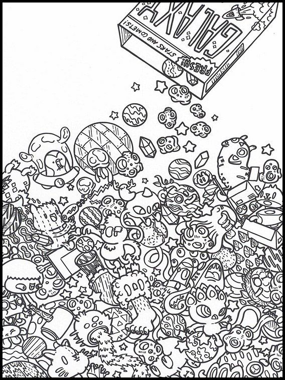 doodles im weltraum 6 ausmalbilder für kinder malvorlagen