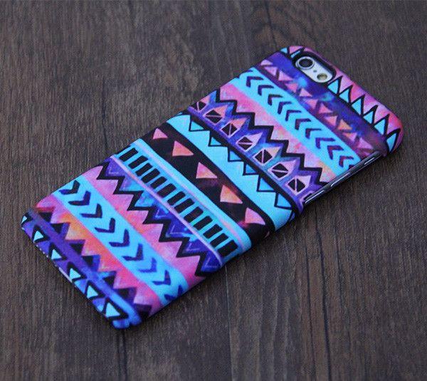 Watercolor Blur Aztec Painting iPhone 6 Plus 6 5S 5C 5 4 Protective Case – Acyc
