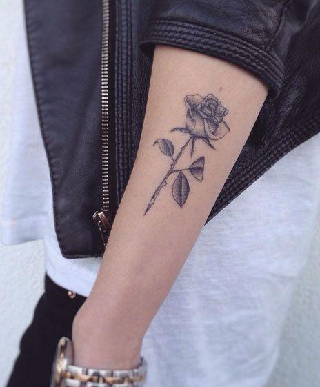 Blackwork Rose by Jakub Nowicz
