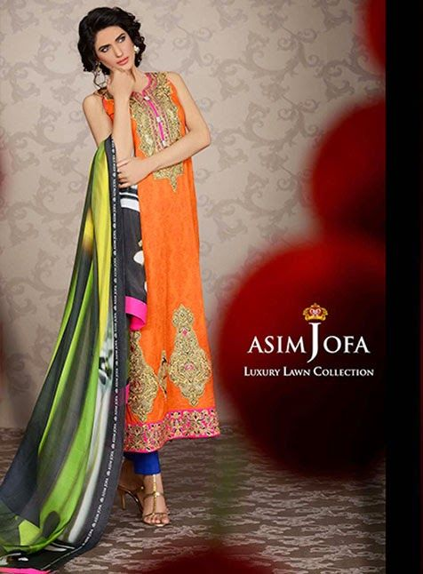 Asim Jofa Lawn 2014 Collection For Women