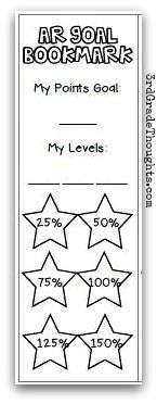 3rd Grade Thoughts: Tracking Accelerated Reader Goals in Class + Freebies