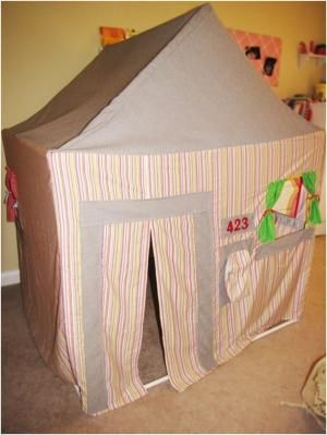 PVC Pipe Playhouse by homemadediycrafts