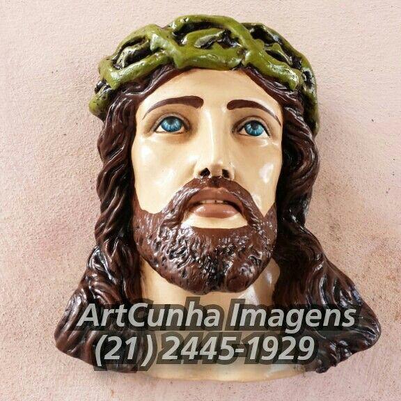 Rosto de Jesus Cristo (30 cm)  ArtCunha Imagens Sacras Fabrica, Restaura e Modifica  Est. Bandeirantes, 829, Taquara, Rio de Janeiro, RJ Tel: (21) 2445-1929 / 98558-3595  #Jesus #JesusCristo #Cristo #CristoJesus #rosto #face #espinho #olhar #olhardeCristo #FilhodeDeus #artesacra #artesanato #Padre #seminarista #boatarde #IgrejaCatólica #católicos #católica #JesusNazareno #cruz #Cristovive #religião #Oxalá #Salvador #amor #errejota021 #jornaloglobo #Catolicismo #JesusCristoéoSenhor…
