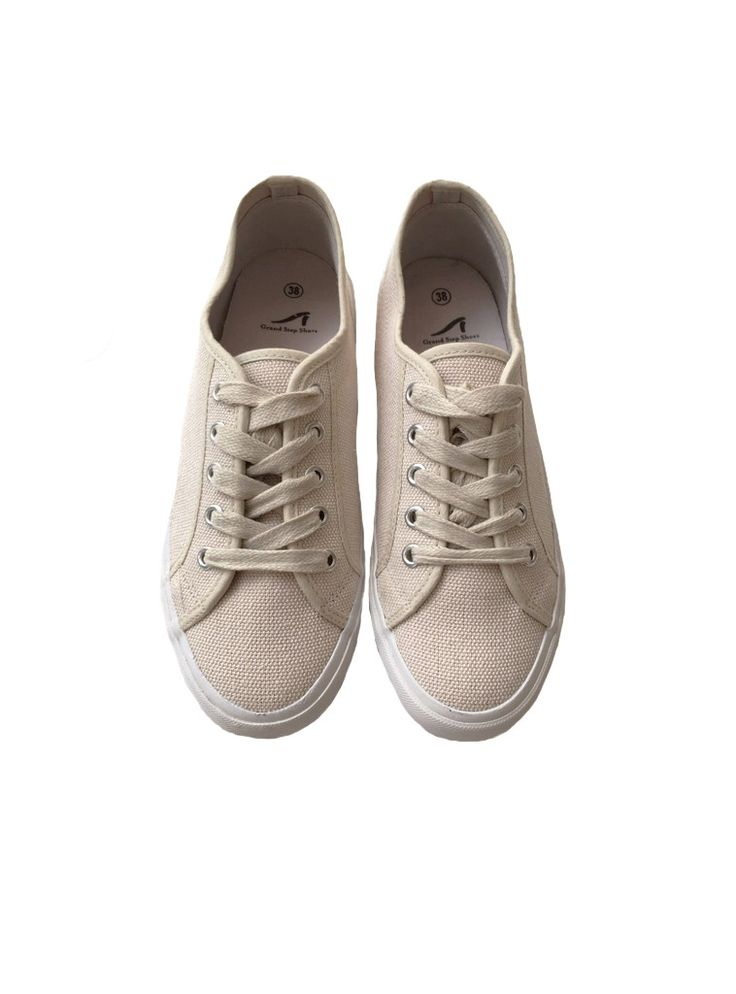Hemp sneaker - off white – studio JUX