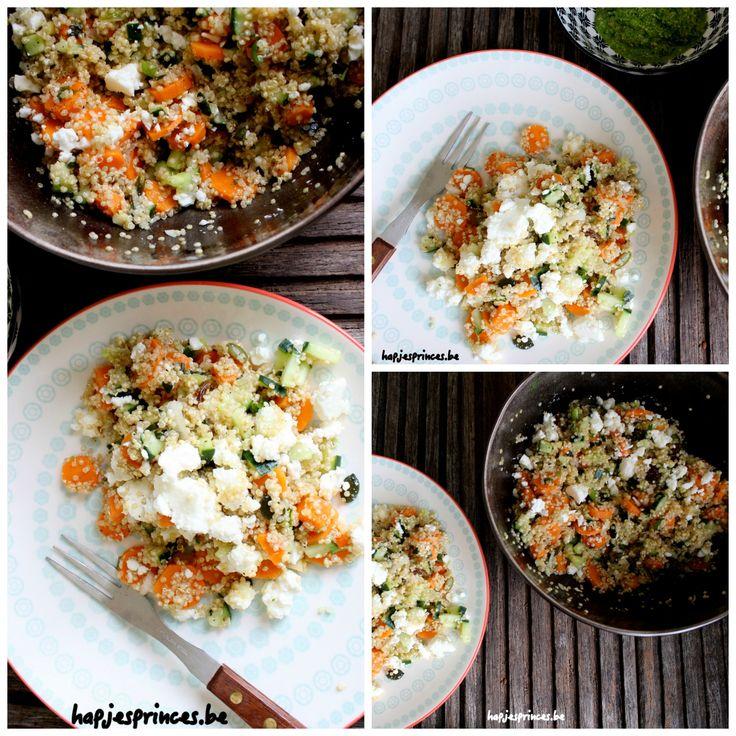 col geroosterde wortelen, feta en quinoa