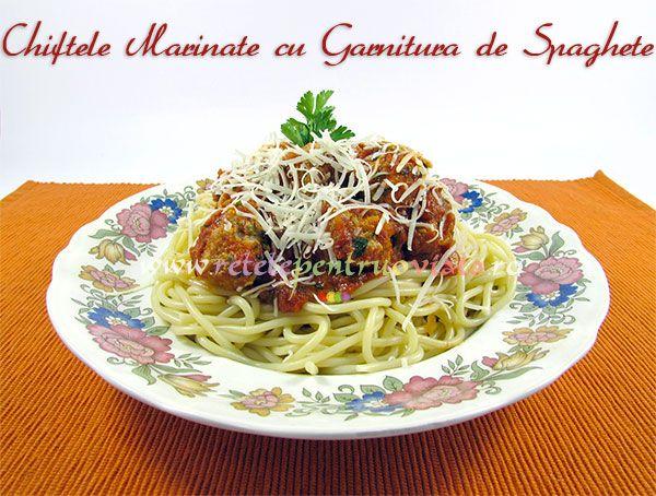Reteta de chiftele marinate - o mancare gustoasa si usor de preparat care poate fi servita cu piure de cartofi, orez sau #paste.