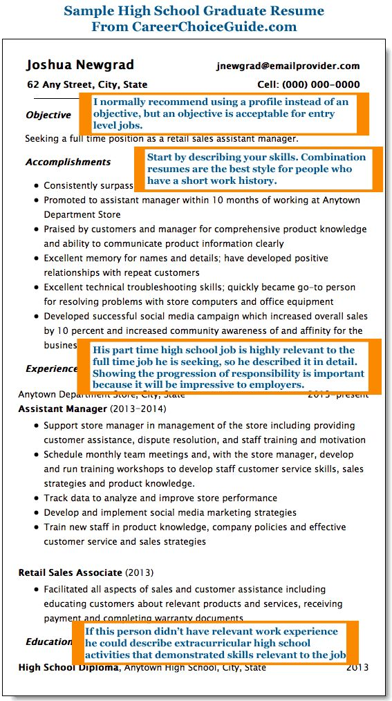 High School Resume Pinterestu0027te hakkında 1000u0027den fazla fikir - example of high school resume