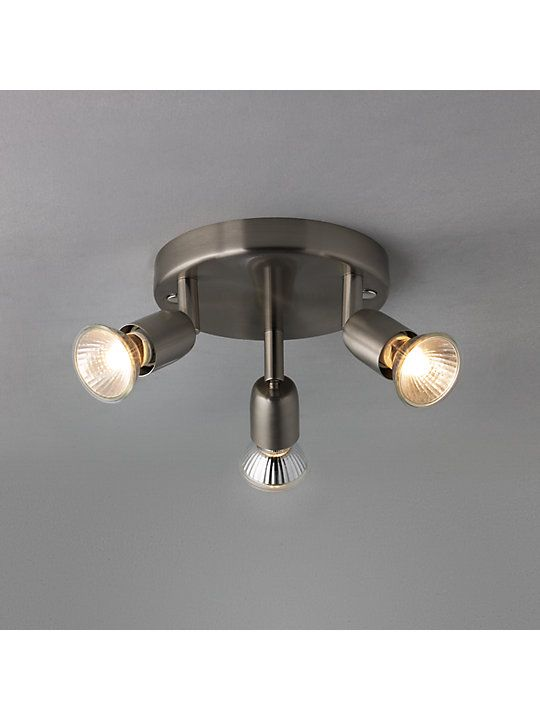 House By John Lewis 3 Spotlight Ceiling Plate Brushed Chrome
