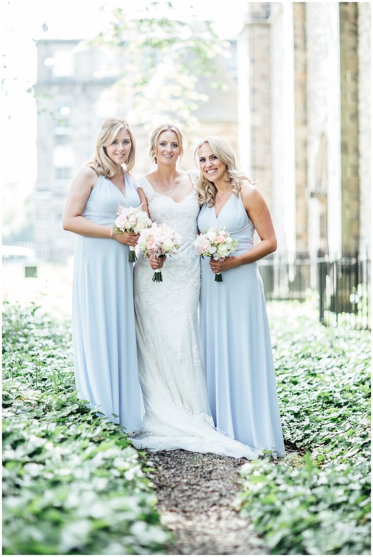 Bridesmaids, Summer wedding, Edinburgh Mansfield Traquiar