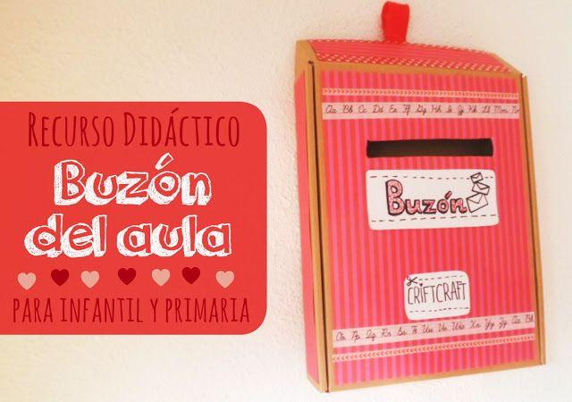 LLUVIA DE IDEAS: Materiales DIY: Buzón del aula para Educación Infantil y Primaria