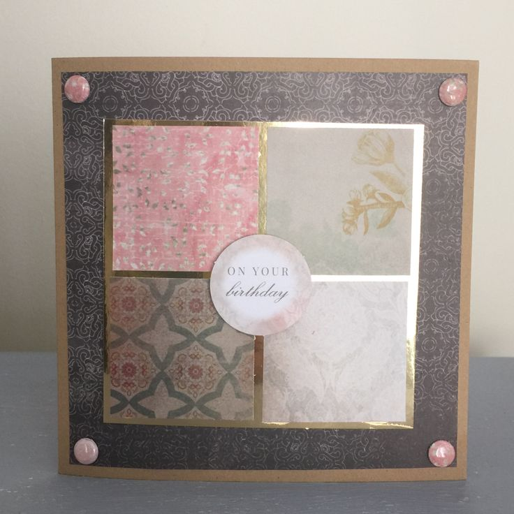 Card using CWC Antiqued papers. Created by Elisabeth Hogarth   Made with Love by…