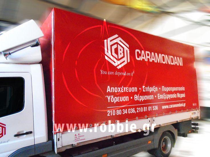 Caramondani / Μουσαμάδες φορτηγών // #Μουσαμάδες #Μουσαμάδες_Φορτηγών #Στόλοι_Εταιρειών #Ψηφιακές_Εκτυπώσεις #robbieadv