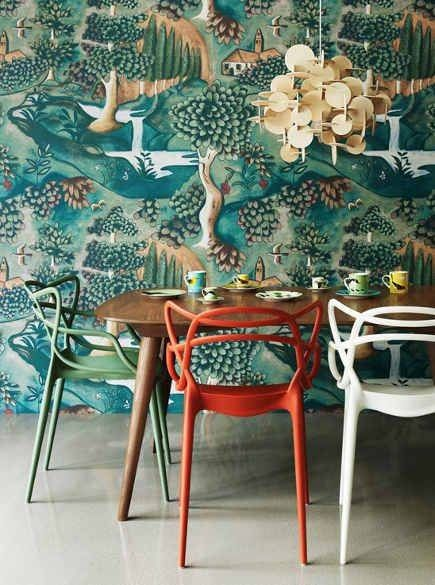 statement-making wallpaper
