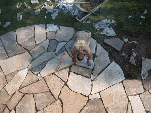Diy Patio   Maybe Like Something Like This But Bordered With Brick. How To Lay  FlagstoneFlagstone ...