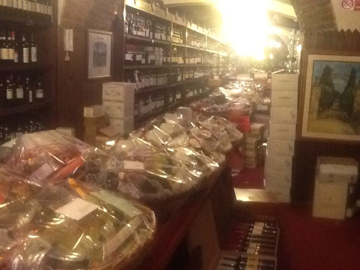 The famous wine shop called Enoteca Constantini.