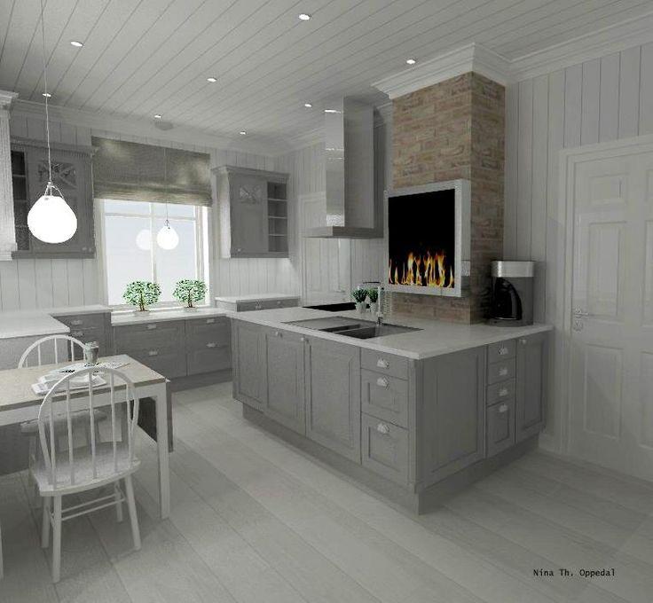 Scandinavian Kitchens Find Your Style Here: Sigdal Kjøkken Modell Herregaard Eik Palett S 2500-N