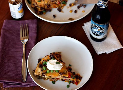 Tortilla and Black Bean Pie | food and drink | Pinterest