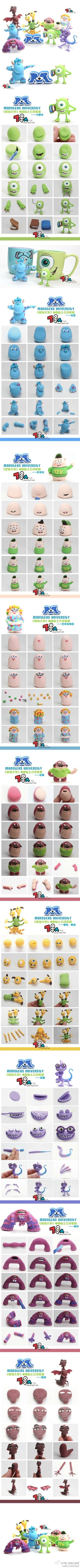 Monsters university clay