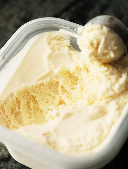 Easy homemade vanilla ice cream made without eggs-- Wow this was really good. I…