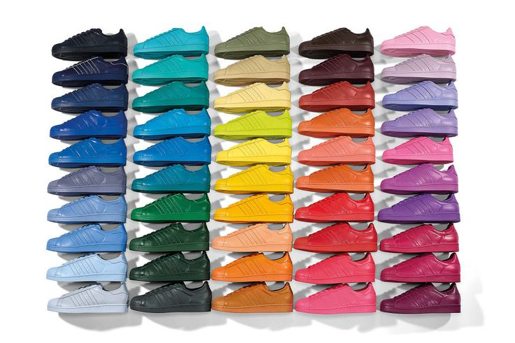 Here's How to Win All 50 Pairs of Pharrell's Supercolor adidas Superstars