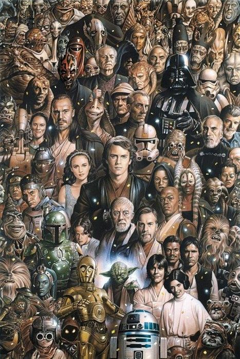 Star Wars Cross Stitch Pattern, StarWars Characters, Popular Heroes Modern Cross Stitch Pattern, Pdf Pattern, Instant Download