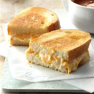 The Ultimate Grilled Cheese Recipe -These gooey grilled cheese sandwiches, subtly seasoned with garlic, taste great for lunch with sliced apples. And they're really fast to whip up, too. To save seconds, I soften the cream cheese in the microwave, then blend it with the rest of the ingredients in the same bowl. That makes cleanup a breeze. -Kathy Norris, Streator, Illinois