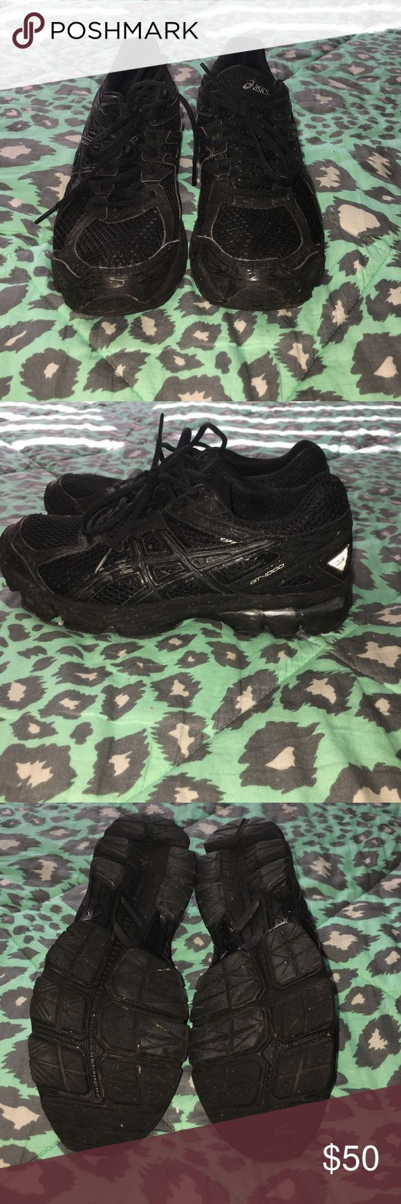 All black Asics Good condition little dirty from use Asics Shoes Athletic Shoes