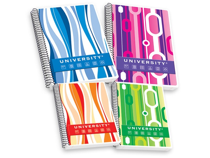 Notebooks with subjects, PP transparent cover