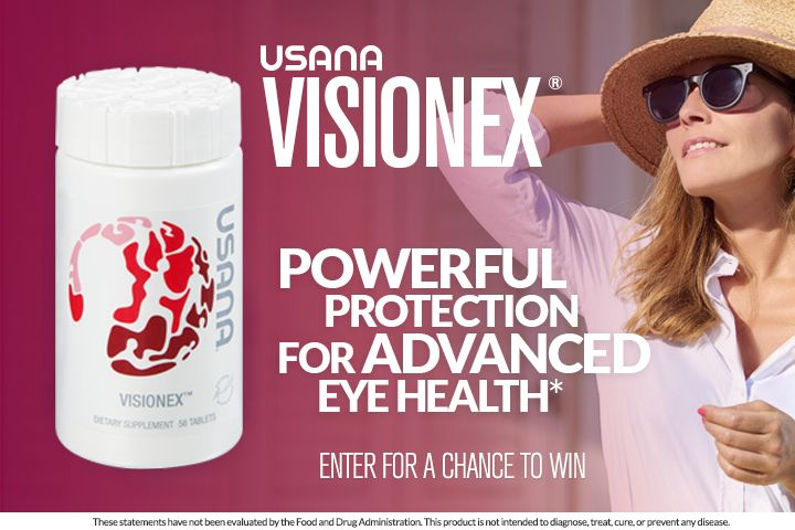 USANA Visionex®: Enter for a Chance to Win!: You could win one of 1,000 bottles of USANA Visionex® starting April 12, 2017 at 9am ET!