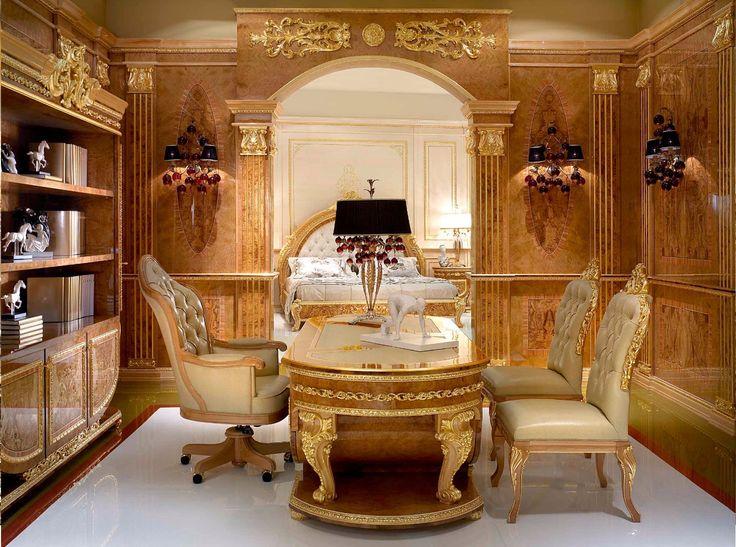 Italian Design Desk In Classic Style