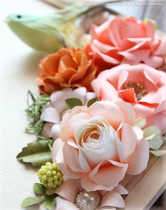 紙のバラ(ペーパーフラワー)