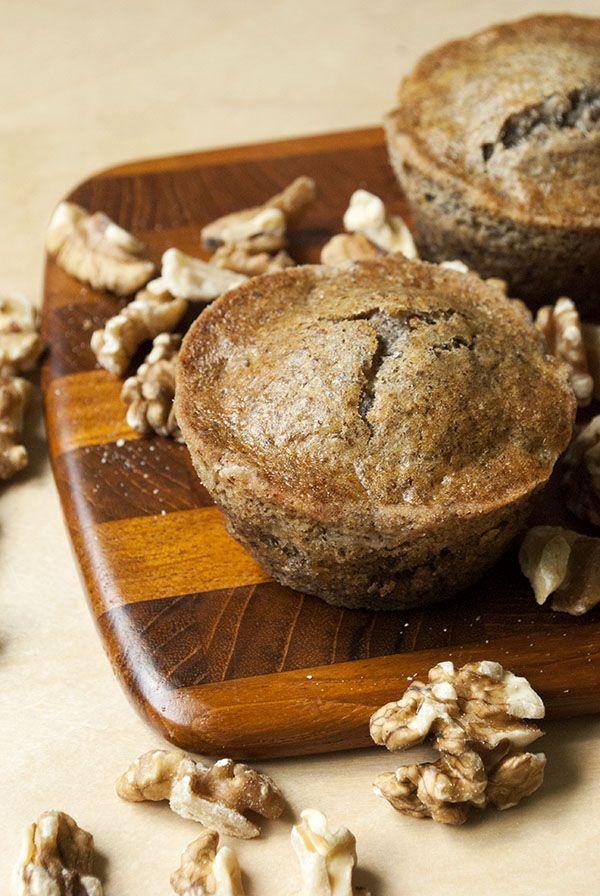 Vegane Bananen-Muffins mit Leinsamen und Walnüssen