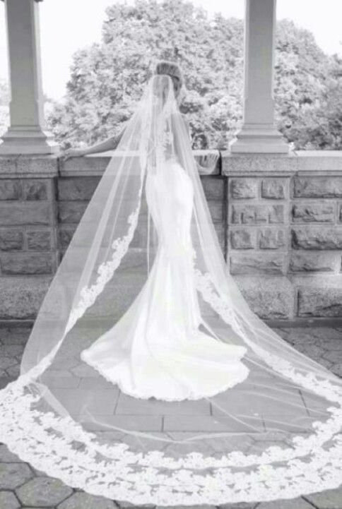 love the veil - sheer - one layer - would want shorter and just plain but need to see silhouette
