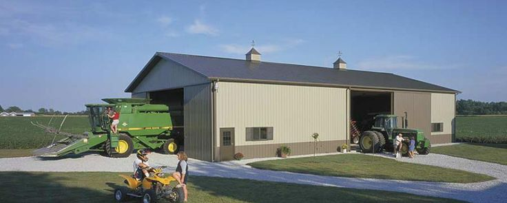 45 best machine storage buildings images on pinterest for Barn home builders indiana